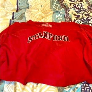 A college long sleeve red shirt